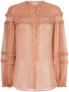 прозрачная блузка с оборками Nº21