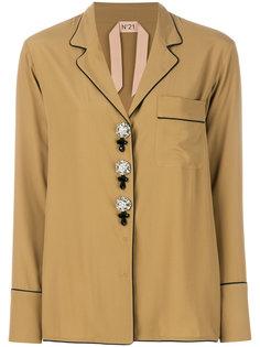 рубашка в пижамном стиле с декоративными пуговицами Nº21