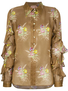 блузка с рюшами и цветочным принтом Nº21
