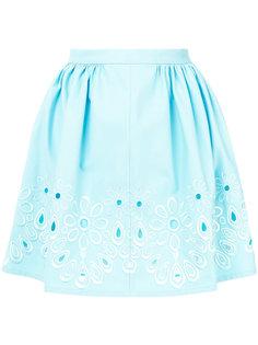 мини-юбка с цветочной вышивкой  Boutique Moschino