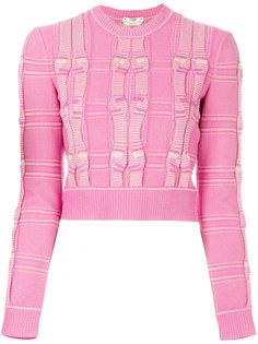 укороченный свитер с вышивкой Fendi