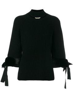 свитер с отворотной горловиной  и вырезом Fendi