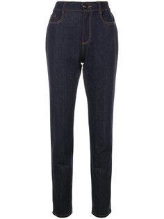 прямые джинсы с высокой талией Fendi