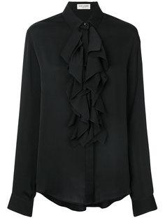 рубашка с рюшами Saint Laurent