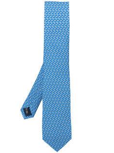 галстук с принтом golf club Salvatore Ferragamo
