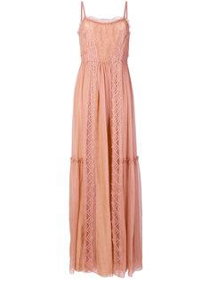длинное кружевное платье Alberta Ferretti
