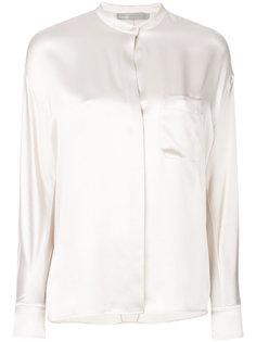 блузка с потайной застежкой  Vince