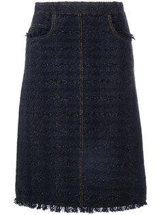 твидовая юбка Aria Tory Burch