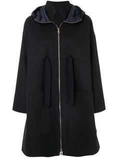 пальто свободного кроя с капюшоном Moncler