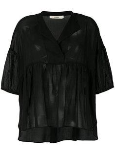 блузка свободного кроя с баской Odeeh