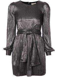 плиссированное платье с поясом For Love And Lemons
