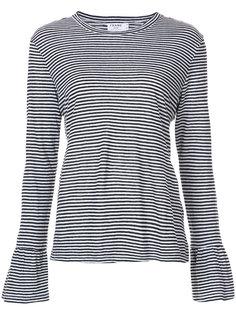 футболка в полоску с длинными рукавами  Frame Denim