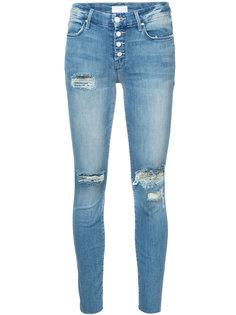 джинсы скинни с рваными деталями Mother