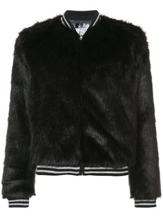 куртка-бомбер из искусственного меха Mother
