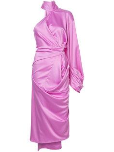 драпированное платье на одно плечо Solace London