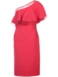 платье в рубчик на одно плечо Tadashi Shoji