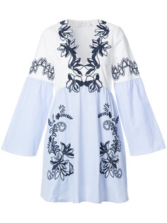платье-туника с цветочной вышивкой  Tanya Taylor