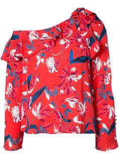 блузка с цветочным принтом  Tanya Taylor