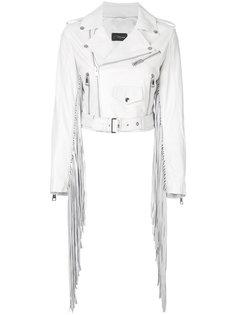 байкерская куртка с бахромой  Manokhi