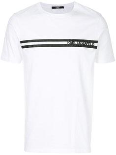 футболка с полосой с логотипом  Karl Lagerfeld