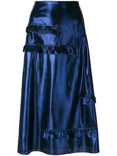 юбка с рюшами  Burberry
