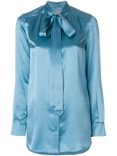 рубашка с завязками на горловине Burberry