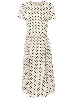 платье с узором в горох Burberry