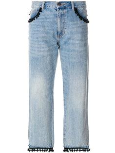 укороченные джинсы с помпонами Marc Jacobs