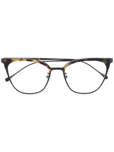 square tortoiseshell-effect glasses Kyme