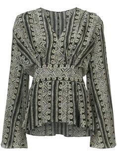 блузка со сборкой и V-образным вырезом  Sally Lapointe
