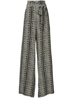 широкие брюки с принтом  Sally Lapointe