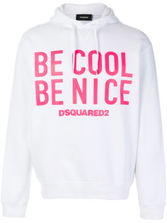 толстовка Be Cool Be Nice Dsquared2