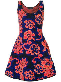 платье с цветочным принтом Dsquared2