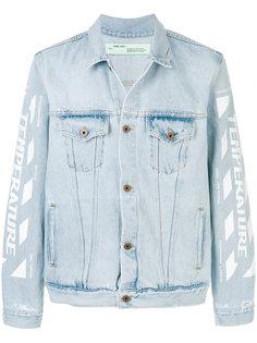джинсовая куртка с графическим принтом  Off-White