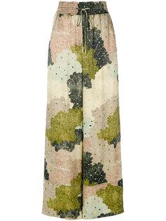 широкие брюки  с цветочным принтом Off-White