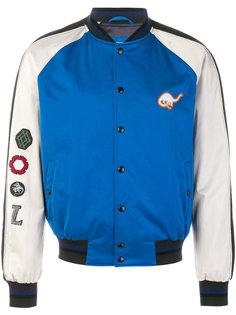 куртка-бомбер с принтом динозавра Lanvin