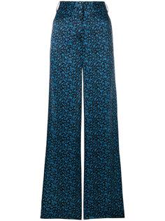 широкие брюки  с цветочным принтом Victoria Victoria Beckham