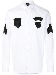 рубашка с контрастными заплатками Just Cavalli