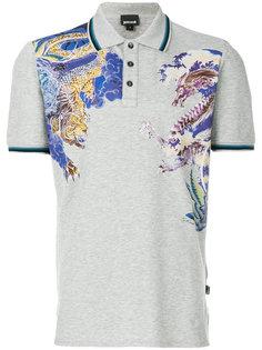 футболка-поло с принтом дракона Just Cavalli