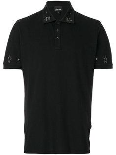футболка-поло декорированная звездами Just Cavalli