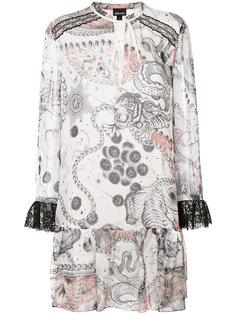 платье-шифт с принтом Just Cavalli