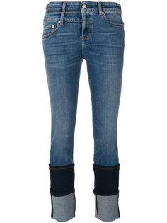 джинсы с двойным подолом Alexander McQueen