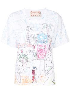 футболка с принтом doodle  Marni