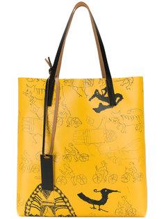 сумка-тоут с принтом doodle  Marni
