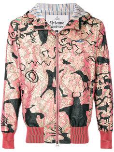 куртка с капюшоном  и принтом металлик Vivienne Westwood