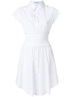 платье-рубашка с эластичным поясом Alexander Wang