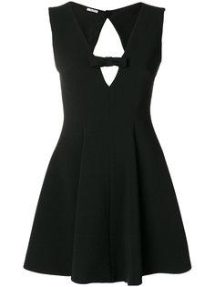 мини-платье с вырезной деталью Miu Miu