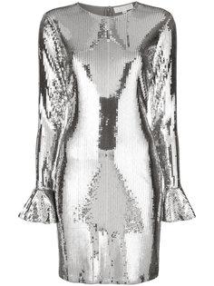 платье с пайетками и рюшами  Michael Michael Kors