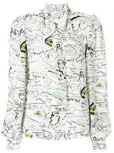 блузка с завязками и графическим принтом  Maison Margiela