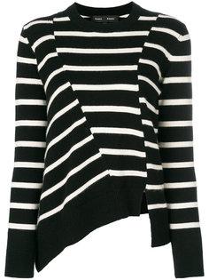 полосатый асимметричный свитер Proenza Schouler